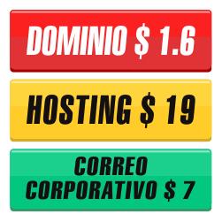 compra dominio, compra hosting, compra correo corporativo